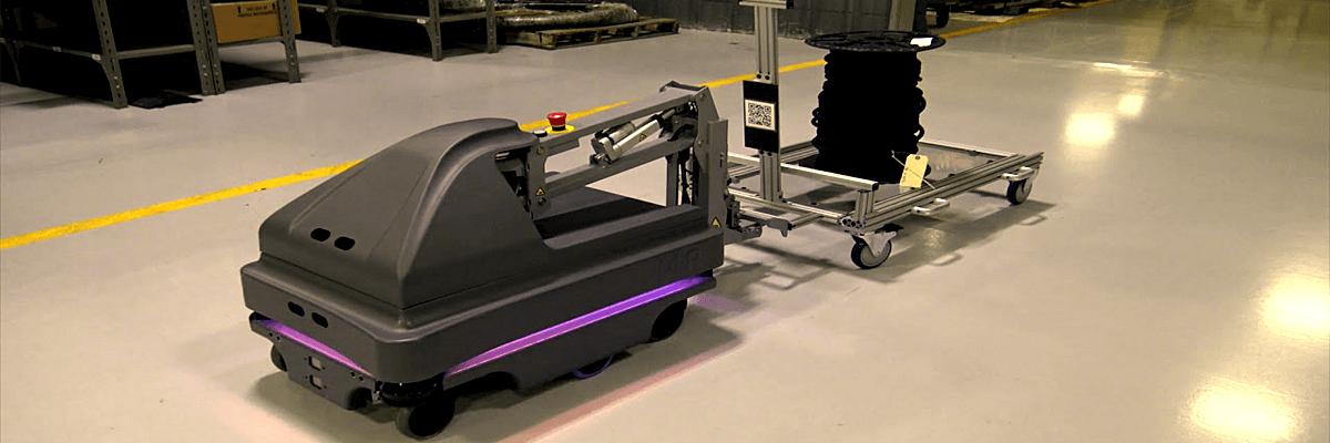 автоматизированную тележку робот MIR200