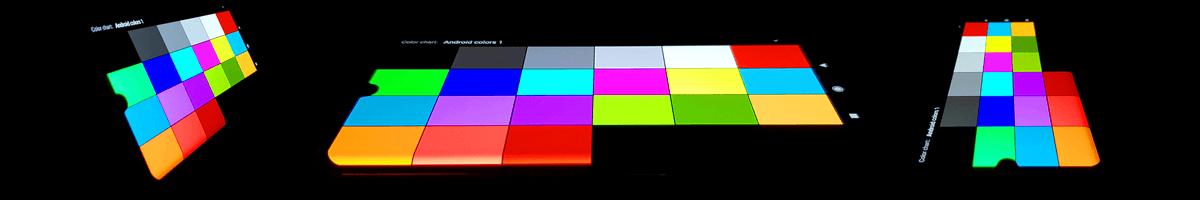У AMOLED матриц хорошие углы обзора.