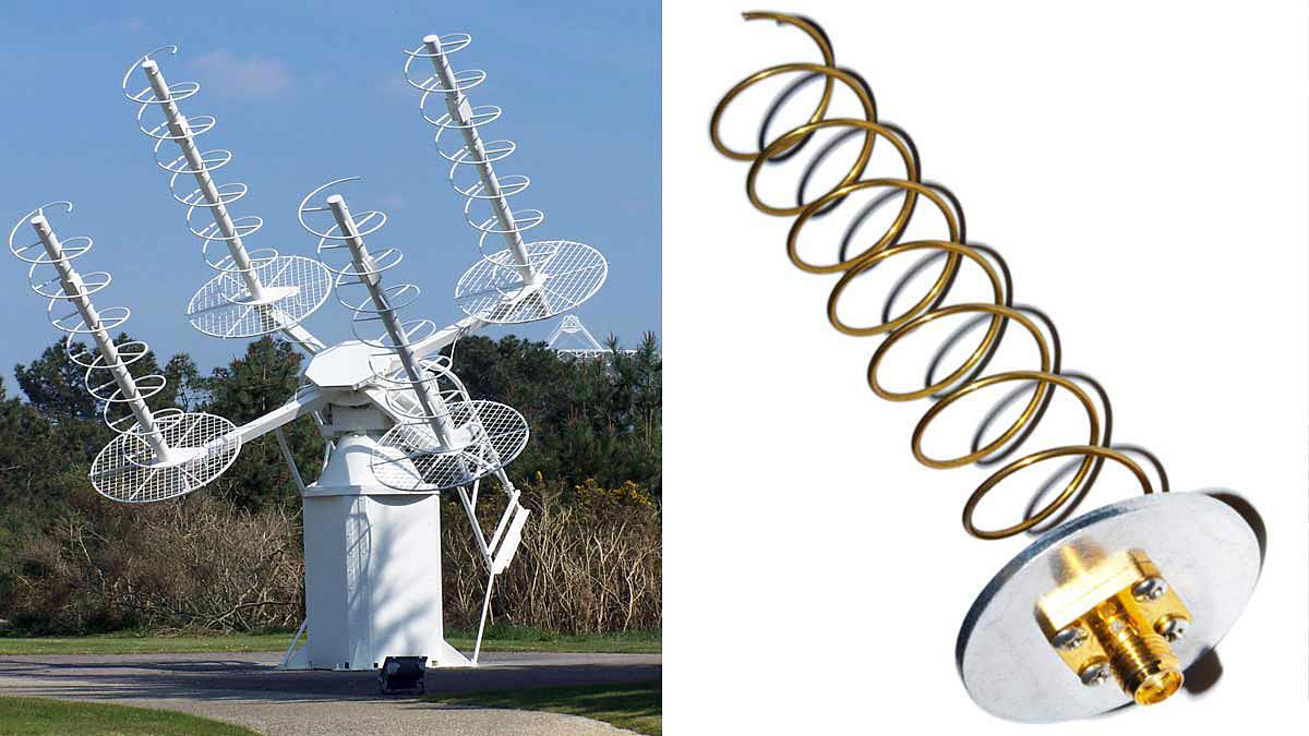 Вид антенны АБВ «антенна бегущей волны»