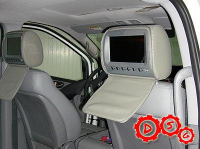 DVD подголовники в Hyundai GRAND STAREX серого цвета