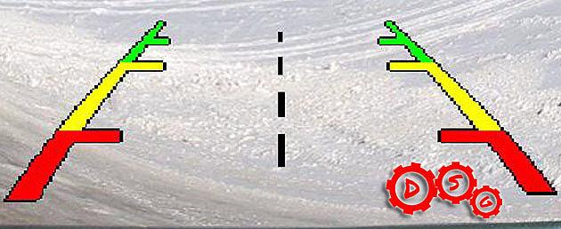 Статическая линии парковки — обычное положении картинки в виде полосок.