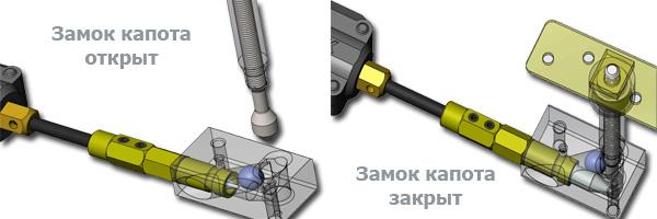 Электро замок капота PROSECURITY DOBLELOCK для Mitsubishi
