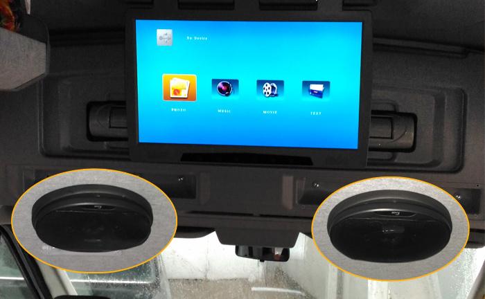 "23,6"" FullHD/ USB/ SD/ HDMI/ AV потолочный HD монитор серого цвета"