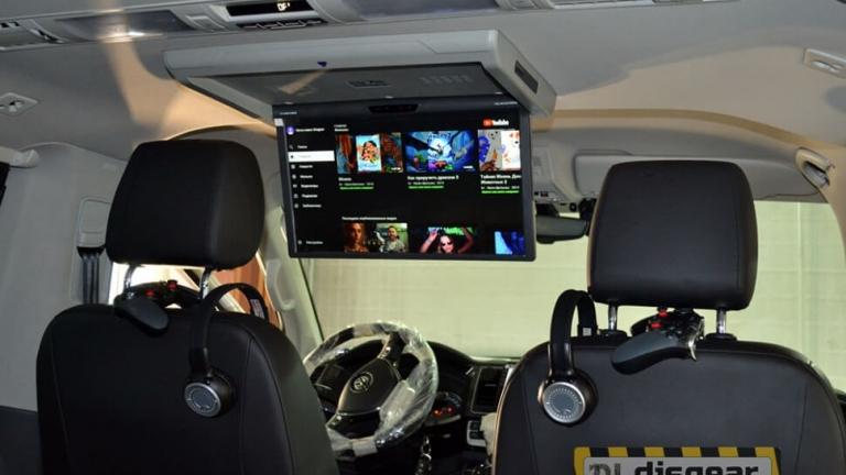 XM AN1760RDUD моторизированный потолочный Android монитор