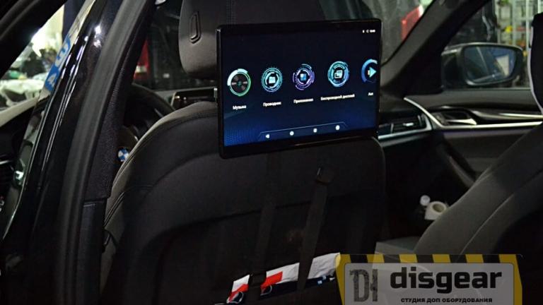 """11,6"""" универсальный навесной Android/ FullHD монитор на подголовник в автомобиле BMW"""