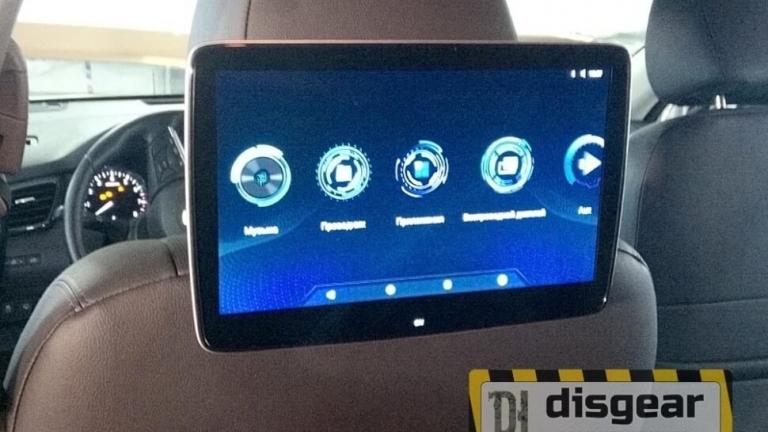 """11,6"""" универсальный навесной Android/ FullHD монитор на подголовник в автомобиле Nissan X-trail"""