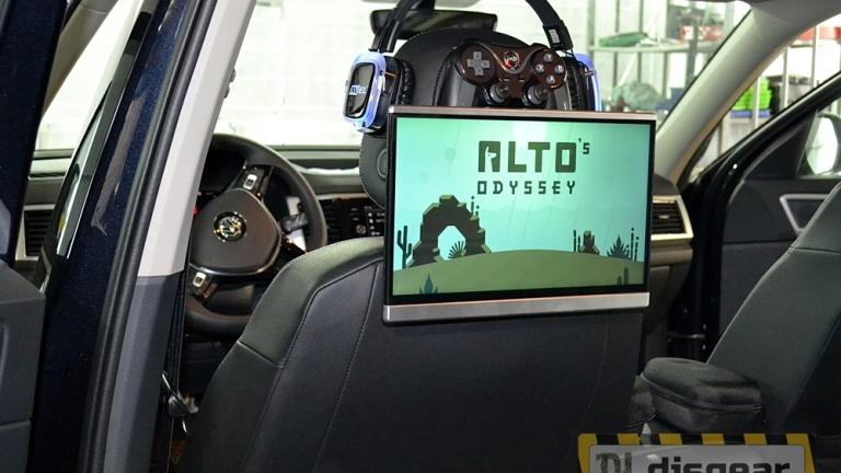 """11,6"""" универсальный навесной Android Game монитор на подголовник с неоновой подсветкой"""