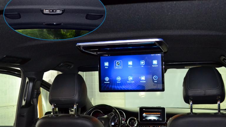"""Android Game 17,3"""" моторизированный потолочный FullHD авто монитор черный/серый/бежевый/синий цвета"""