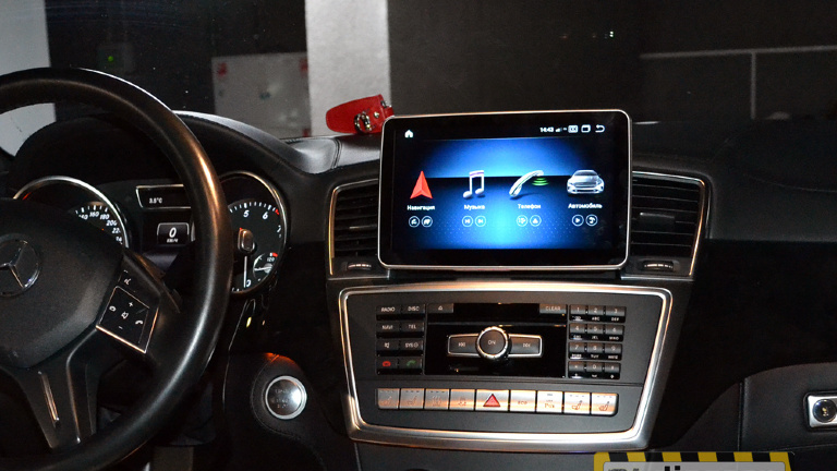 "9"" Android Pie монитор для Mercedes ML/G/GL/GLE/GLS class 166"