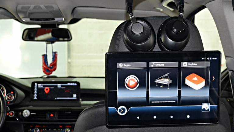 "12,5"" для BMW навесной Dual Zone Android Full HD монитор на подголовник"