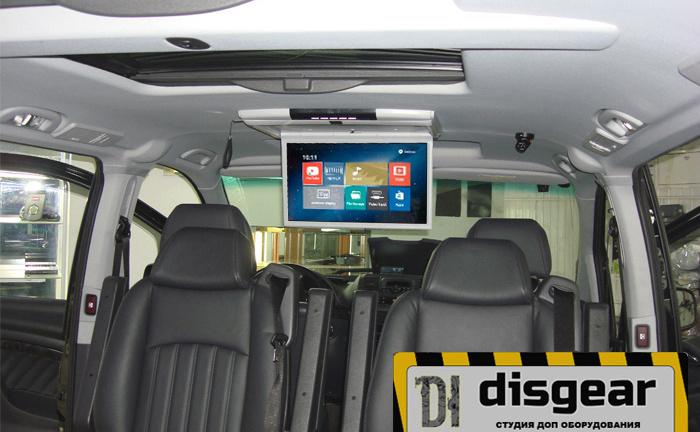 """Android 15.6"""" потолочный FullHD автомобильный монитор серого цвета"""