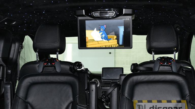 """Android Pie 15.6"""" потолочный FullHD автомобильный монитор для Mercedes V class черного цвета"""