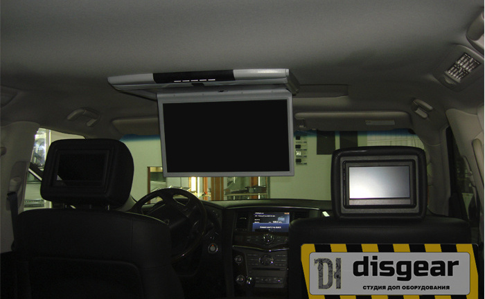 "17,3"" USB/ SD/ HDMI/ AV потолочный FullHD монитор черного цвета"