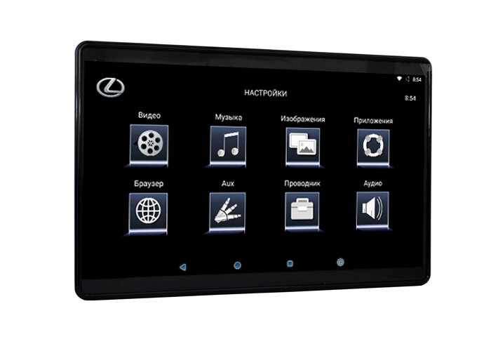 "12,5"" для Lexus навесной Dual Zone Android Full HD монитор на подголовник"
